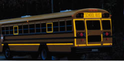 School bus will be used yellow color