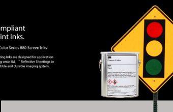 Traffic compliant Screen Print Inks