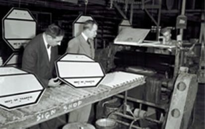 September 1, 1939, the first 3M reflective sign went up